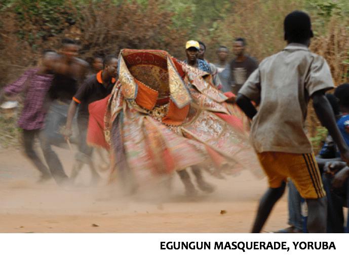 Image: Egungun ancestral masquerade, Nigeria.