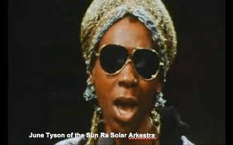 Image: June Tyson of the Sun Ra Solar Arkestra.