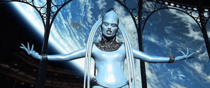 Image: Mula, the Blue Lady from The Fifth Element, 1997.