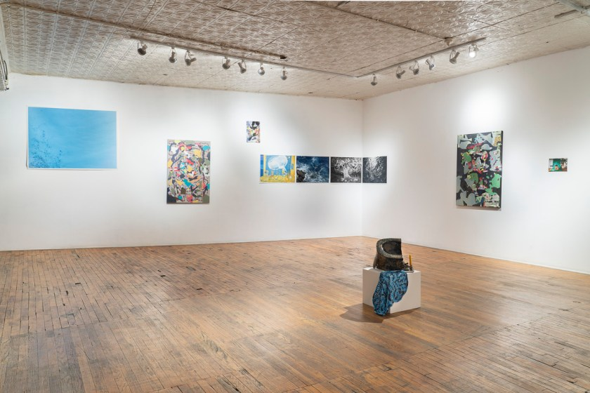 Image: An installation view of the exhibition From a Strange Place, which includes work by both Marzena Abrahamik and Jordan Martins. Image courtesy of the artist.