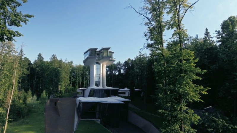 Real estate mogul Vadislov Doronin built a home that towers over the Russian treetops
