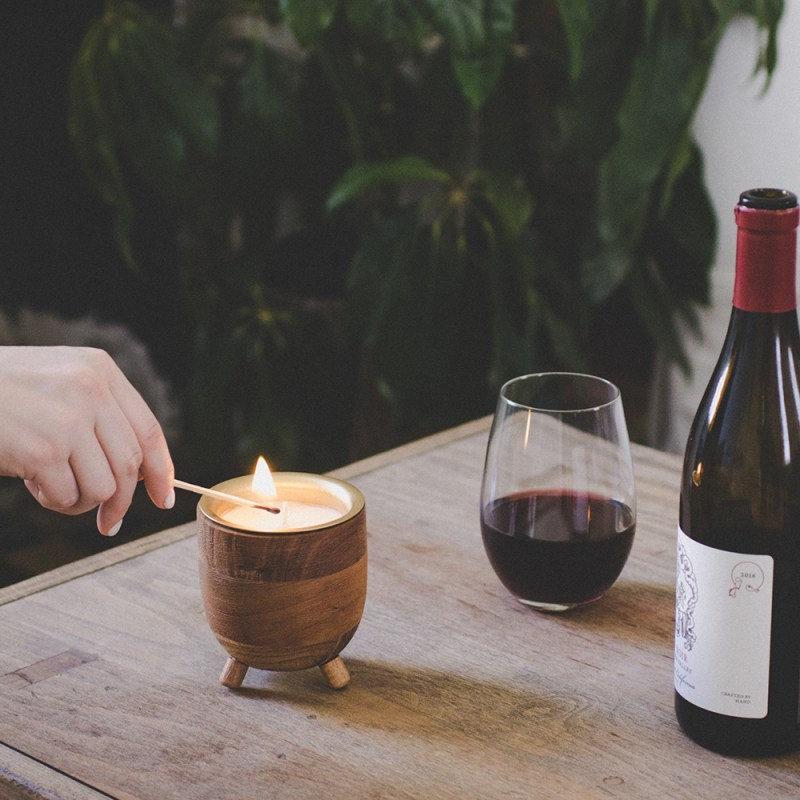 Rewined Transforms Used Wine Bottles into Beautiful New Candles