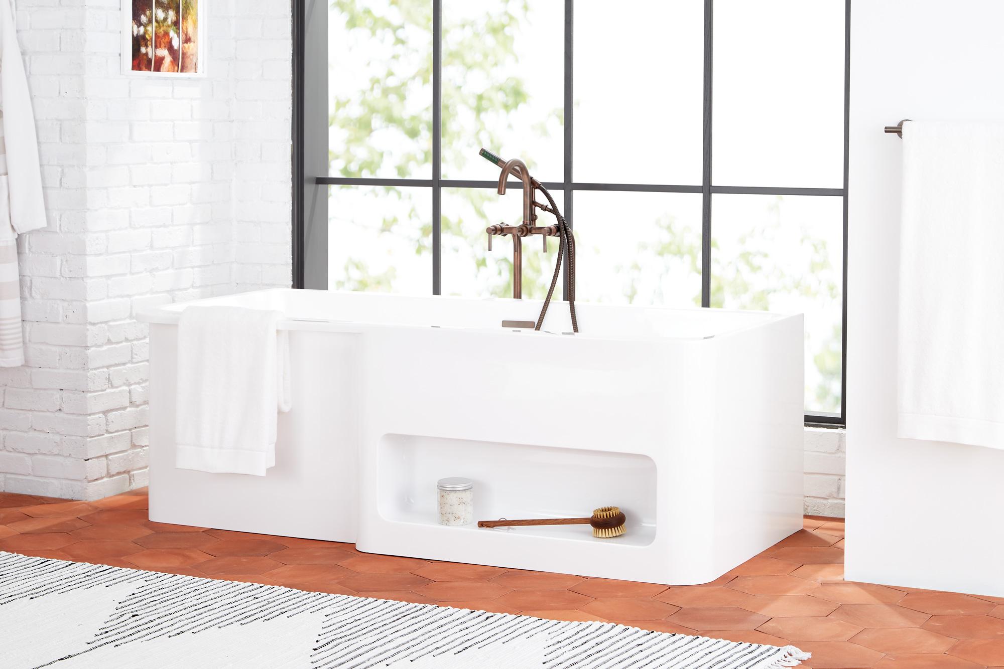 sixtysix signature hardware white room tub detail