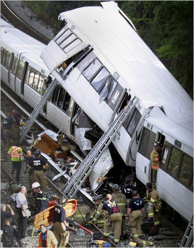 APTOPIX Metro Train Derailment
