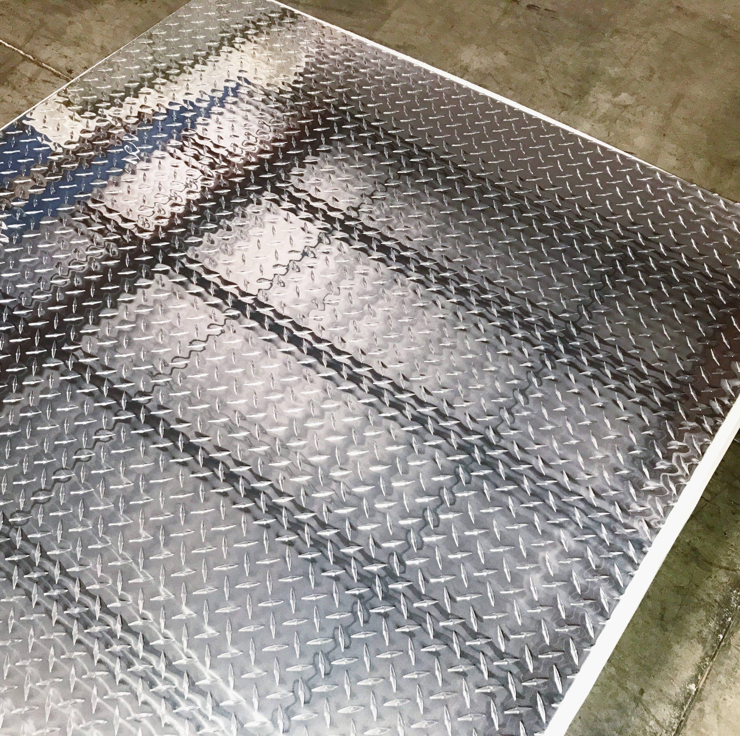 "1//4/"" Aluminum Diamond Tread Plate 12/"" x 48/"""