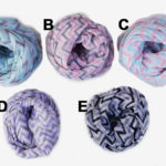 Custom Spring Triple Colored Fashion Statement Chevron Infinity Scarves Groupshot