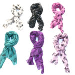 New Custom Color Light-Weight Skull & Crown Pattern Fashion Scarves: Group Shot