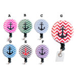 Custom Colored Chevron Anchor Badge Reel Retractable ID Badge Holder: Group Shot