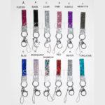 Custom Color Bling Shimmering Rhinestone Key Chains: Group Shot