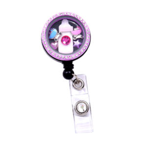 Baby Bottle Memory Charm Locket Retractable ID Badge Reel - Featured Image