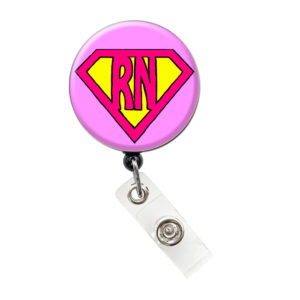 Pink Super RN Retractable ID Badge Holder: Featured Image