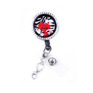 Zebra RN Heart Charm Locket Retractable Badge Reel: Featured Image