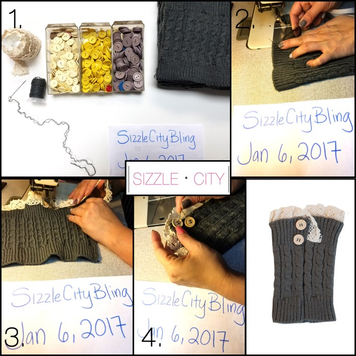 Learn How to Make Your Own Short Knit Legwarmers withe Sizzle City Designers