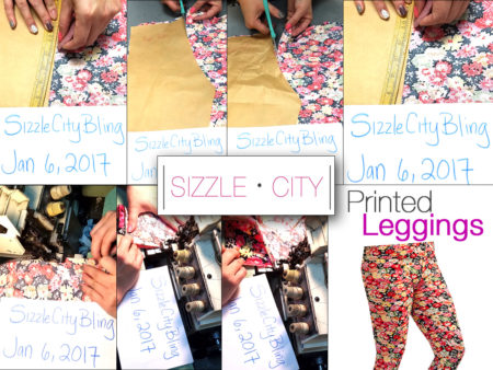 Printed Floral Pattern Leggings - Learn from the Sizzle City Designers how to make your own printed pattern floral women's leggings.