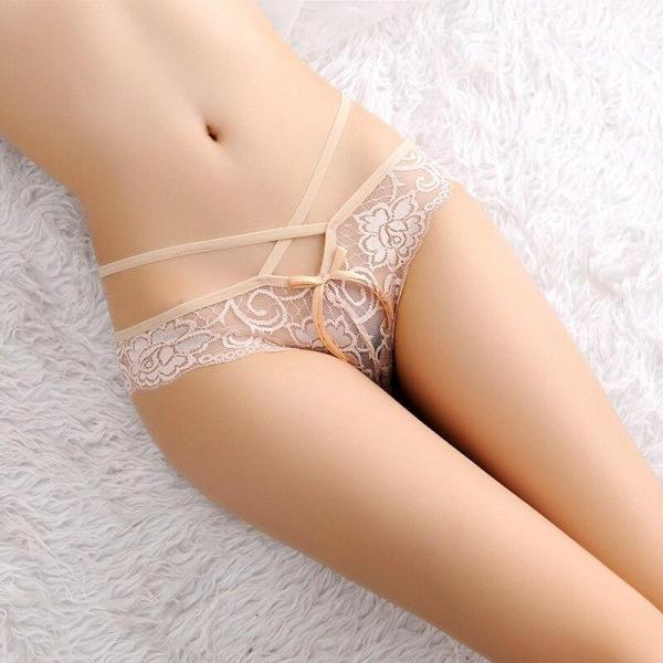 Transparent Lace Floral Seamless Panties Thongs 7 Colors