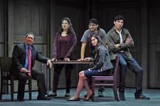 Cast of DEFERRED ACTION: Rodney Garza, Elizabeth Ramos, Arturo Soria, Ivan Jasso, Stephanie Cleghorn Jasso. Karen Almond photo