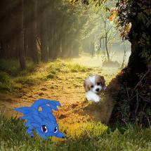 The two instantly became friends, so Rocky invited his new friend to join him on his adventure.