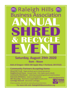 Shred and Recycle Event Details