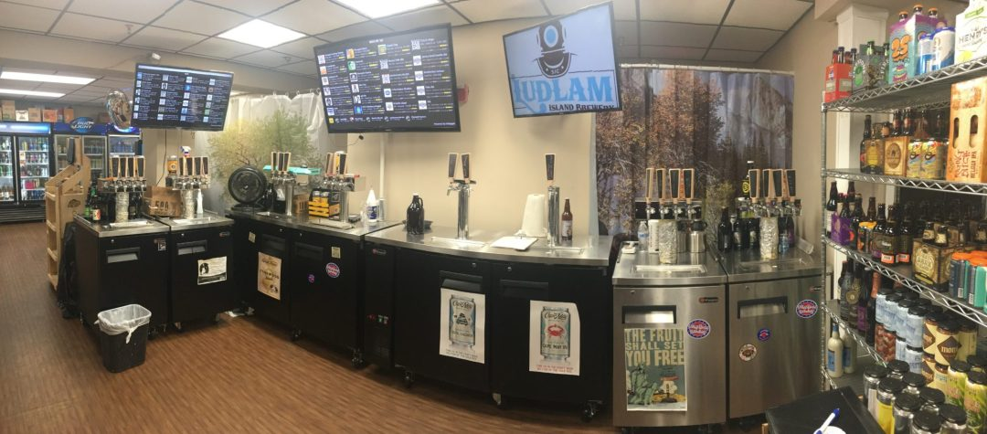 Interior shot of Clayton Liquors