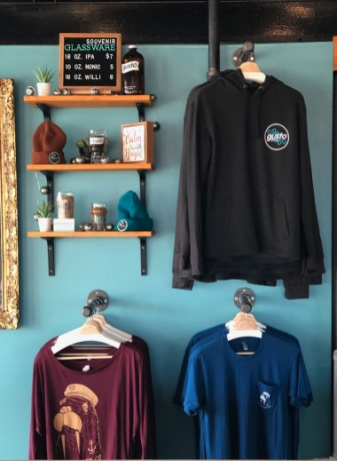 Some of the Merchandise and Gifts available at Gusto Brewing Company, Cape May County, NJ