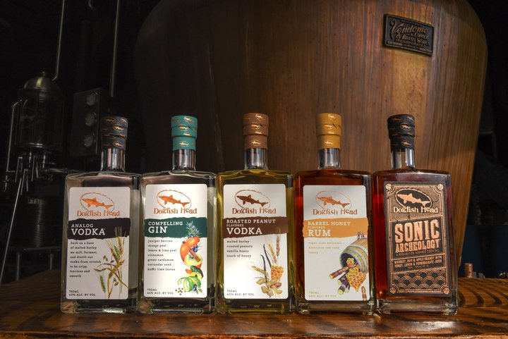 Dogfish Head Line of Scratch Made Spirits