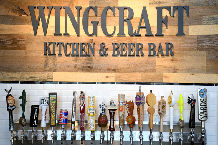 Taps at Wingcraft Kitchen and Beer Bar - One of the 5 Best Beer Bars in Atlantic City