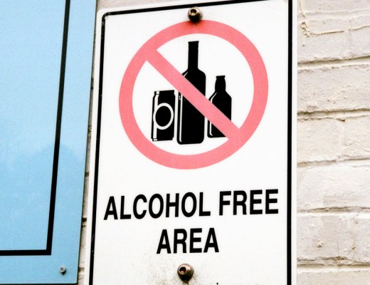 Alcohol Free Area Street Sign