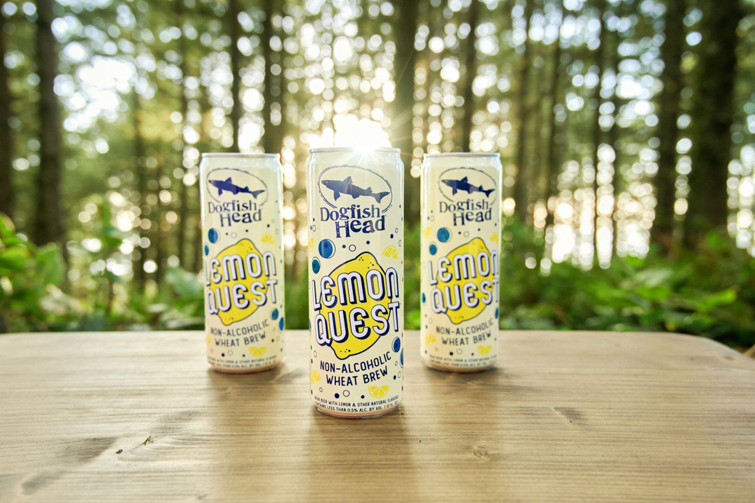 Dogfish Head Releases its First Non-Alcoholic Wheat Brew, Lemon Quest