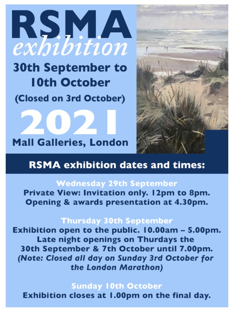 Book your tickets for the Royal Society of Marine Artists Annual Exhibition 2021