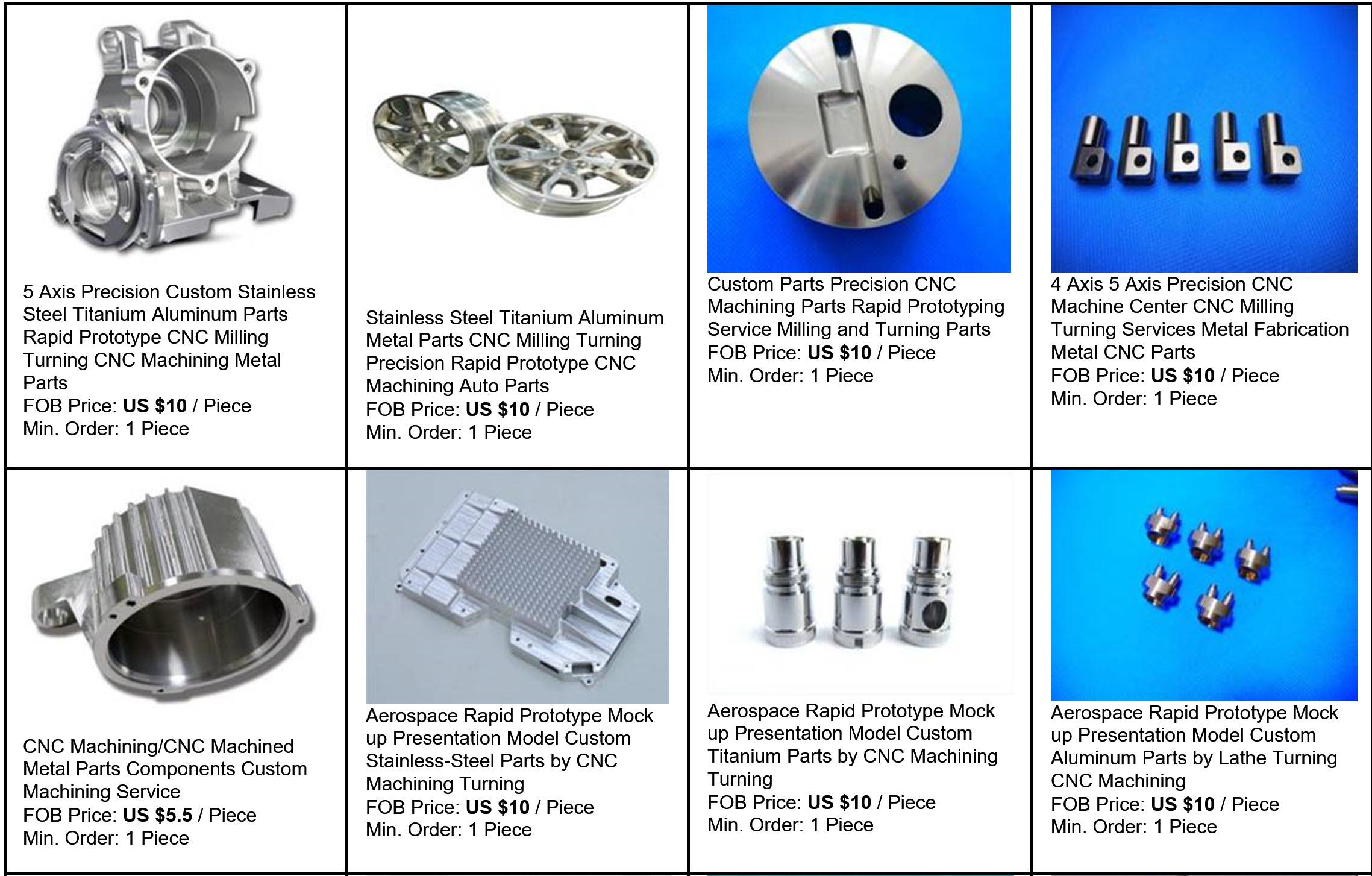 Priseksempler på Prototypeservice - Prototypeproduktion CNC Bearbejdning