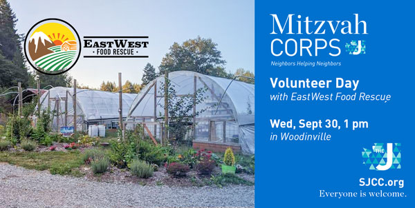 Mitzvah Corps Volunteer Day at EastWest Food Rescue
