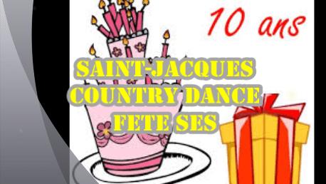 Rdv les 27 et 28 avril 2019 pour les 10 ans de SAINT-JACQUES COUNTRY DANCE…