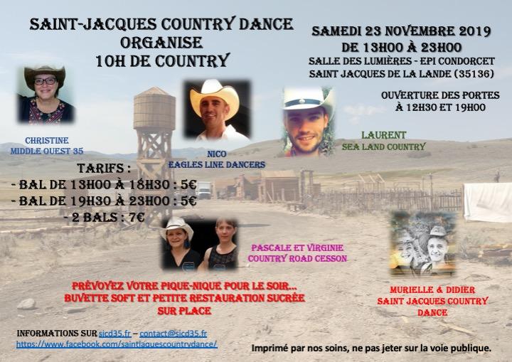 3ème édition des 10h de country… c'est parti pour le 23 novembre 2019…