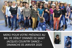 SAINT-JACQUES COUNTRY DANCE VOUS REMERCIE DE VOTRE PRÉSENCE AU BAL DE DÉBUT D'ANNÉE LE 05 JANVIER 2020 – STRASS & PAILLETTES