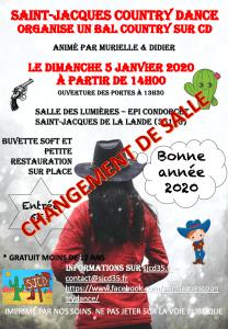 ATTENTION !!! CHANGEMENT DE SALLE POUR LES 3 ET 5 JANVIER 2020