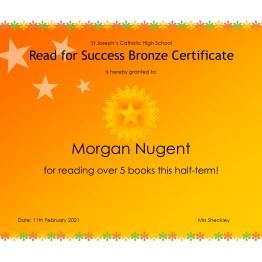 Bronze Certificate - Morgan Nugent