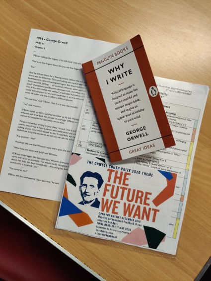 Materials for the Writing & Social Justice Aspiration Day with the Orwell Youth Prize
