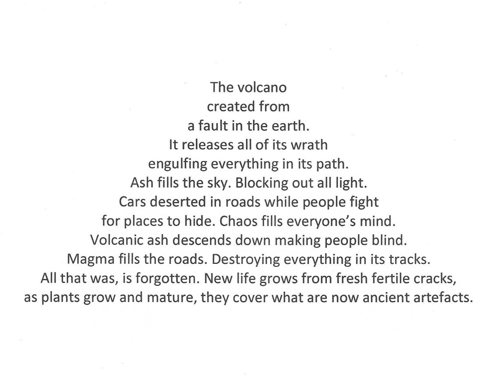 """The volcano"" poem by Nicholas N, Competition 3.1 Winner"