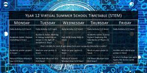 Year 12 (STEM) Virtual Summer School Timetable