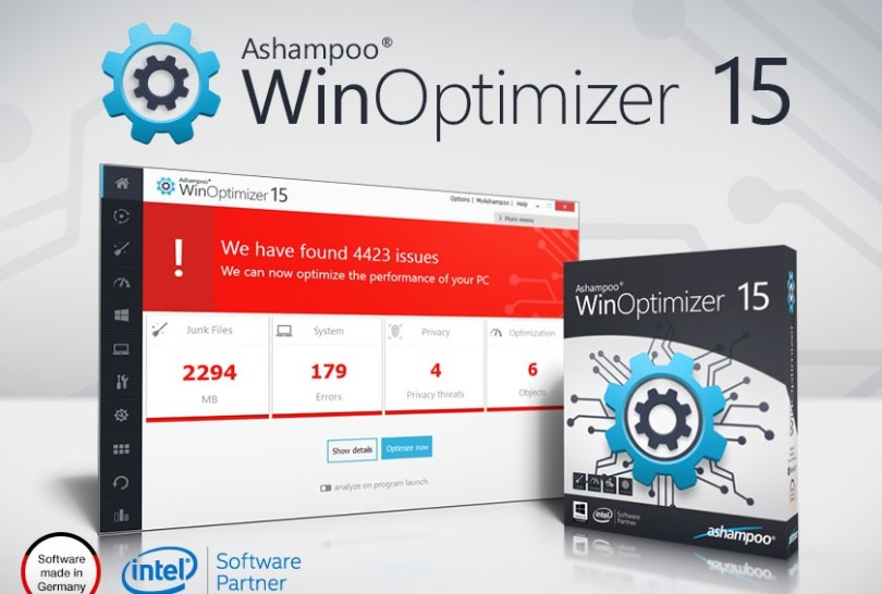 Ashampoo WinOptimizer 15.00.01 Crack + Portable [Latest]