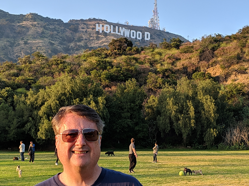 Scott Duffy and Hollywood sign