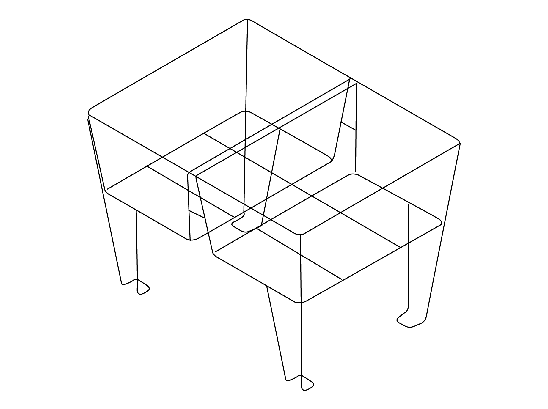 Shopping Basket Stand Double