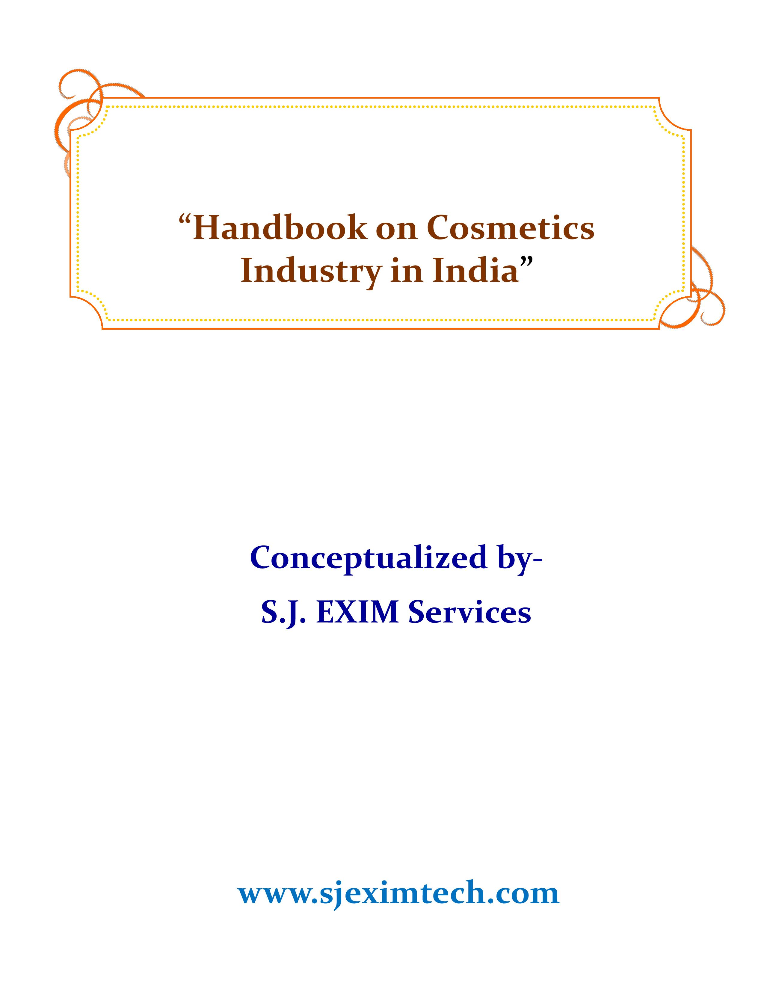 Handbook on Cosmetics Industry in India
