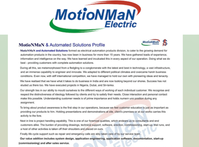 About Motion Man