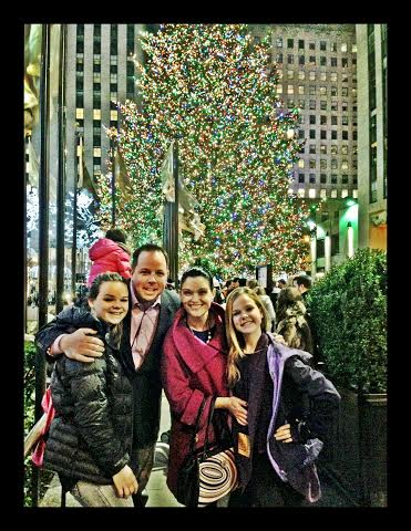Erica McDermott with Family in NYC