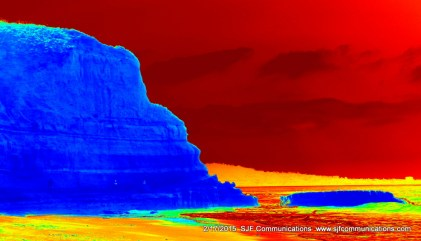 Heat Map of Rock Formations and Flat Rock at Torrey Pines State Beach