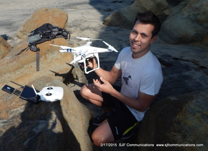 Jim Gleason with his Drone at Torrey Pines State Beach