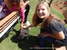 Emmy with a pug