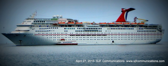 Look! A Carnival Cruise in Port!