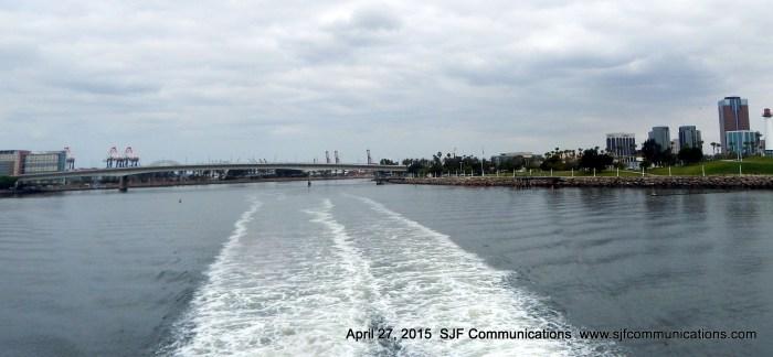 Leaving the Long Beach Harbor